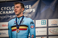 bronze medalist Laurens Sweeck (BEL) <br /> <br /> UEC CYCLO-CROSS EUROPEAN CHAMPIONSHIPS 2018<br /> 's-Hertogenbosch – The Netherlands<br /> Men Elite Race