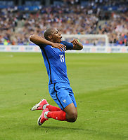 Djibril Sidibe (Monaco) of France celebrates scoring his goal to give his side the lead and his first for the national team during the International Friendly match between France and England at Stade de France, Paris, France on 13 June 2017. Photo by David Horn/PRiME Media Images.