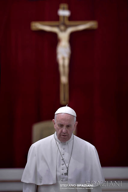 Pope Francis during his weekly general audience  in St. Peter square at the Vatican, Wednesday.June 1 2016.