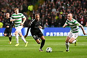 12th September 2017, Glasgow, Scotland; Champions League football, Glasgow Celtic versus Paris Saint Germain;  KYLIAN MBAPPE (psg)take on Scott Brown (cel)