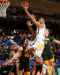 BROOKINGS, SD - DECEMBER 28:  Skyler Flatten #1 from South Dakota State drives to the basket past Jared Samuelson #11 from North Dakota State during their game Wednesday night at Frost Arena in Brookings. (Dave Eggen/Inertia)