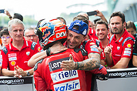3rd November 2019; Sepang Circuit, Sepang Malaysia; MotoGP Malaysia, Race Day;  The number 4 Ducati Corse Team rider Andrea Dovizioso takes third after the race - Editorial Use