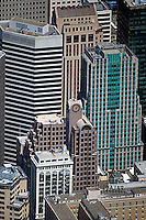 aerial photograph 33 New Montgomery Street, 55 Second Street, 595 Market Street skyscrapers San Francisco