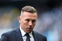 SKY Sports pundit Craig Bellamy prior to the Premier League match between Manchester City and Swansea City at the Etihad Stadium, Manchester, England, UK. Sunday 22 April 2018