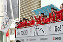 Japan Delegation (JPN), <br /> OCTOBER 7, 2016 :<br /> Japanese medalists of Rio 2016 Olympic and Paralympic Games wave to spectators during a parade from Ginza to Nihonbashi, Tokyo, Japan.<br /> (Photo by YUTAKA/AFLO SPORT)