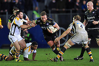 Max Lahiff of Bath Rugby takes on the Wasps defence. European Rugby Champions Cup match, between Bath Rugby and Wasps on December 19, 2015 at the Recreation Ground in Bath, England. Photo by: Patrick Khachfe / Onside Images