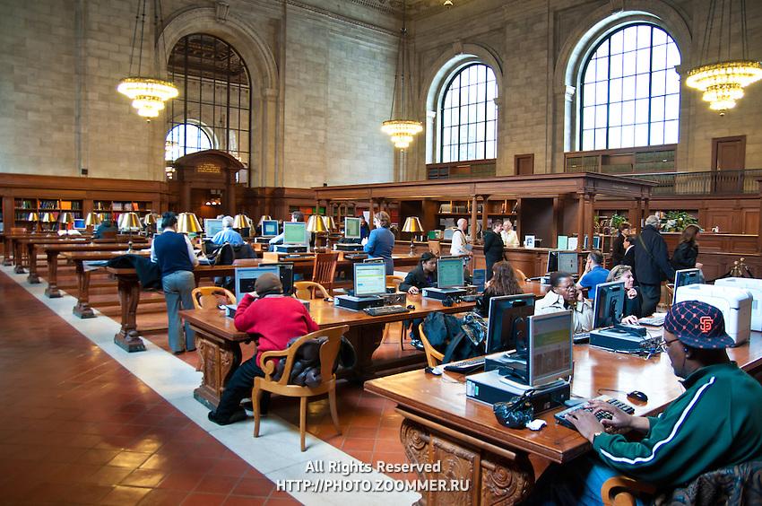 New York Public Library Rose Main reading room