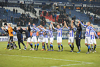 VOETBAL: SC HEERENVEEN: Abe Lenstra Stadion, 17-02-2012, SC Heerenveen-NAC, Eredivisie, Eindstand 1-0, Spelers bedanken het publiek, ©foto: Martin de Jong.