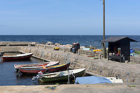 Hafen von Helligpeder auf der Insel Bornholm, D&auml;nemark, Europa<br /> Port of Helligpeder, Isle of Bornholm Denmark