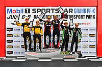 IMSA WeatherTech SportsCar Championship<br /> Mobil 1 SportsCar Grand Prix<br /> Canadian Tire Motorsport Park<br /> Bowmanville, ON CAN<br /> Sunday 9 July 2017<br /> 31, Cadillac DPi, P, Dane Cameron, Eric Curran, 85, ORECA, Misha Goikhberg, Stephen Simpson, 2, Nissan DPi, Scott Sharp, Ryan Dalziel, celebrates, win, winners, victory lane, podium<br /> World Copyright: Scott R LePage/LAT Images
