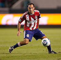 Newly acquired CD Chivas USA midfielder Nick LaBrocca (10) moves with the ball. The Colorado Rapids defeated CD Chivas USA 1-0 at Home Depot Center stadium in Carson, California on Saturday March 26, 2011...