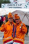 Nederland, Amsterdam, 14 september  2012.Seizoen 2012/2013.Davis_Cup.Nederland_Zwitserland.Door de Regen in Amsterdam wordt de Davis Cup Uitgesteld