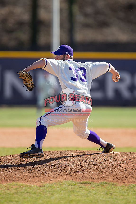High Point Panthers relief pitcher Joe Goodman (33) in action against the LIU-Brooklyn Blackbirds at Willard Stadium on March 8, 2015 in High Point, North Carolina.  The Panthers defeated the Blackbirds 9-0.  (Brian Westerholt/Four Seam Images)