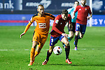 "Eibar's Alejandro Galvez, Club Atletico Osasuna's Oriol Riera during the match of ""Copa del Rey"" between CA Osasuna and Eibar at El Sadar Stadium in Pamplona. January 03 2017. (ALTERPHOTOS/Rodrigo Jimenez)"