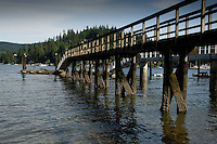 Private jetty  overlooked by homes in Deep Cove, Burrard Inlet,Vancouver, British Columbia, Canada.