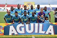 MONTERÍA - COLOMBIA ,20-10-2018: Formación de Jaguares de Córdoba ante el Independiente Medellín  durante partido por la fecha 16 de la Liga Águila II 2018 jugado en el estadio Municipal Jaraguay de Montería . /Team Of Jaguares of  Cordoba against  Independiente Medellin  during the match for the date 16 of the Liga Aguila II 2018 played at Municipal Jaraguay Satdium in Monteria City . Photo: VizzorImage /Andrés Felipe López  / Contribuidor.
