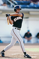 Jesse Ibarra of the San Jose Giants bats during a 1996 baseball season game against the Rancho Cucamonga Quakes at The Epicenter in Rancho Cucamonga, California. (Larry Goren/Four Seam Images)