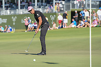 Henrik Stenson (SWE) watches his putt on 18 during round 4 of the AT&T Byron Nelson, Trinity Forest Golf Club, Dallas, Texas, USA. 5/12/2019.<br /> Picture: Golffile   Ken Murray<br /> <br /> <br /> All photo usage must carry mandatory copyright credit (© Golffile   Ken Murray)