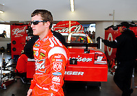Feb. 27, 2009; Las Vegas, NV, USA; NASCAR Sprint Cup Series driver Kasey Kahne during practice for the Shelby 427 at Las Vegas Motor Speedway. Mandatory Credit: Mark J. Rebilas-