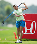 CHON BURI, THAILAND - FEBRUARY 16:  I.K. Kim of South Korea tees off on the 15th green during day one of the LPGA Thailand at Siam Country Club on February 16, 2012 in Chon Buri, Thailand.  Photo by Victor Fraile / The Power of Sport Images