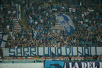 supporter <br />  during the  italian serie a soccer match,between SSC Napoli and AC Chievo       at  the San  Paolo   stadium in Naples  Italy , September 25, 2016