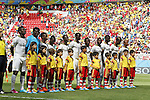 Ghana team group line-up, JUNE 26, 2014 - Football / Soccer : FIFA World Cup Brazil<br /> match between Portugal and Ghana at the Estadio Nacional in Brasilia, Brazil. (Photo by AFLO) [3604]