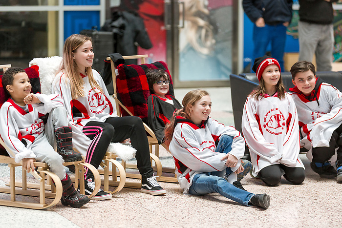TORONTO, ON - FEBRUARY 11: Hockey Canada reveals the players and coaching staff who will represent Team Canada in Men's Sledge Hockey at the upcoming Paralympic 2018 Winter Games in PyeongChang, South Korea on February 11, 2018 in the Atrium at the Canadian Broadcasting Corporation building in Toronto, Canada. (Photo by Adam Pulicicchio/Hockey Canada)