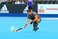 Glenn Schuurman of Netherlands during the Hockey World League Quarter-Final match between Netherlands and China at the Olympic Park, London, England on 22 June 2017. Photo by Steve McCarthy.<br /> <br /> Netherlands v China at the Olympic Park, London, England on 22 June 2017. Photo by Steve McCarthy.
