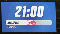 10th March 2020, Red Bull Arena, Leipzig, Germany; EUFA Champions League, RB Leipzig v Tottenham Hotspur; Giant screen showing the kick-off timing