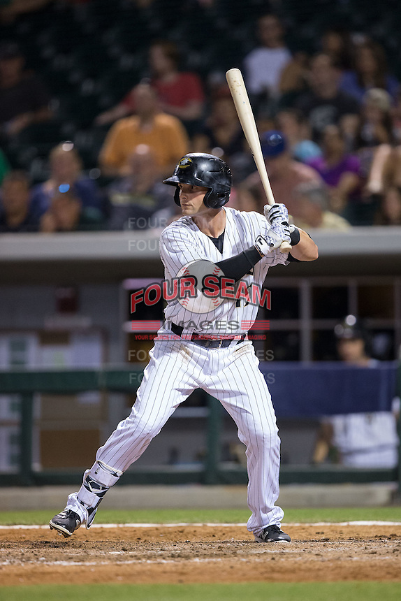 Andy Parrino (12) of the Charlotte Knights at bat against the Lehigh Valley Iron Pigs at BB&T BallPark on June 3, 2016 in Charlotte, North Carolina.  The Iron Pigs defeated the Knights 6-4.  (Brian Westerholt/Four Seam Images)