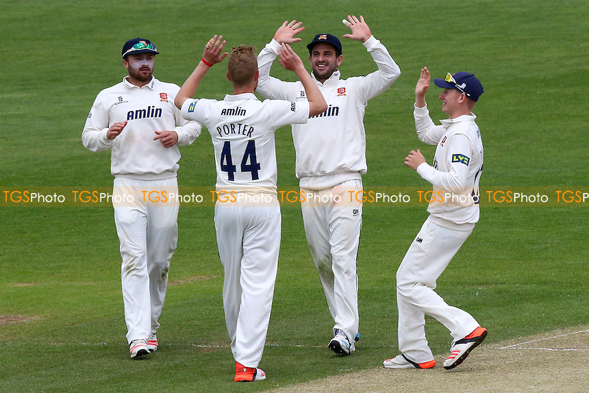 Jamie Porter (44) of Essex is congratulated by his team mates after taking the wicket of Chris Cooke - Glamorgan CCC vs Essex CCC - LV County Championship Division Two Cricket at the SWALEC Stadium, Sophia Gardens, Cardiff, Wales - 20/05/15 - MANDATORY CREDIT: TGSPHOTO - Self billing applies where appropriate - contact@tgsphoto.co.uk - NO UNPAID USE
