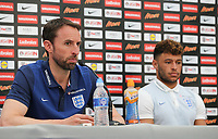 Gareth Southgate, England Manager sits alongs Alex Oxlade Chamberlain during England Press Conference at Stade Omnisport, Croissy sur Seine, France  on 12 June 2017 ahead of England's friendly International game against France on 13 June 2017. Photo by David Horn/PRiME Media Images.