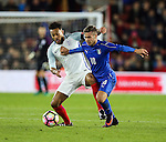 England's Lewis Baker tussles with Italy's Federico Ricci during the Under 21 International Friendly match at the St Mary's Stadium, Southampton. Picture date November 10th, 2016 Pic David Klein/Sportimage