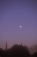 Moon over Congresbury Church