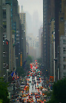 New York, Lexington Avenue on a rainy day, Upper East Side, New York city, Manhattan Island, New York, East Coast, United States, from Hunter College (East 69th street)..