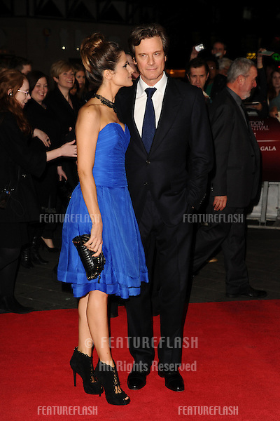 "Colin Firth and wife, Livia at the premiere for ""Crossfire Hurricane"" being shown as part of the London Film Festival 2012, Odeon Leicester Square, London 18/10/2012 Picture by: Steve Vas / Featureflash"