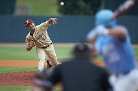 Florida State Seminoles relief pitcher Drew Parrish (43) delivers a pitch to the plate against the North Carolina Tar Heels in the 2017 ACC Baseball Championship Game at Louisville Slugger Field on May 28, 2017 in Louisville, Kentucky. The Seminoles defeated the Tar Heels 7-3. (Brian Westerholt/Four Seam Images)