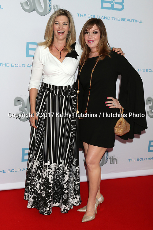 "LOS ANGELES - MAR 18:  Tracy Melchior, Bobbie Eakes at the ""The Bold and The Beautiful"" 30th Anniversary Party at Clifton's Downtown on March 18, 2017 in Los Angeles, CA"