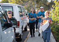 Occidental College students, staff and alumni volunteer all over the Los Angeles area as part of MLK Day of Service, organized by the Office of Community Engagement (OCE), on Saturday, Jan. 26, 2019.<br /> In honor of Dr. King's spirit of service and peace, the aim of the MLK Day of Service is to engage Oxy students, staff, faculty, and alumni in community-based projects.<br /> (Photo by Marc Campos, Occidental College Photographer)