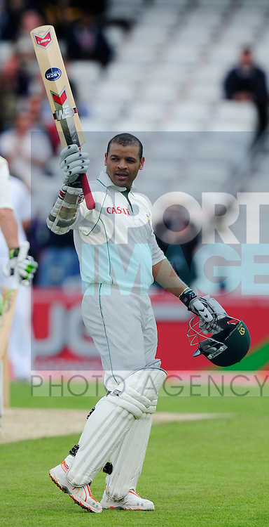 Ashwell Prince of South Africa celebrates his century