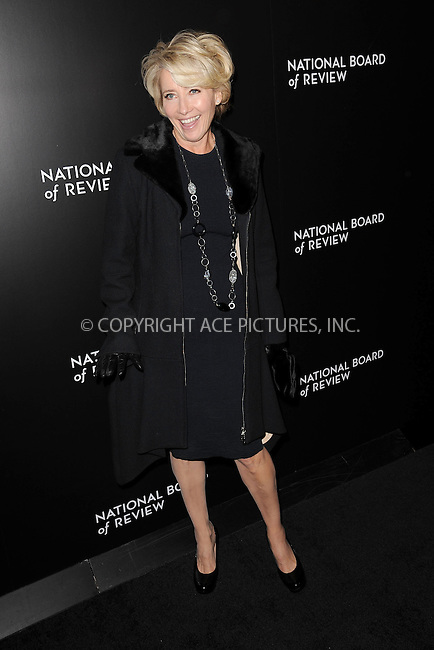 WWW.ACEPIXS.COM . . . . . <br /> January 7, 2014...New York City<br /> <br /> Emma Thompson attends the 2014 National Board Of Review Awards Gala at Cipriani 42nd Street on January 7, 2014 in New York City.<br /> <br /> Please byline: Kristin Callahan...ACEPIXS.COM<br /> Tel: (212) 243 8787 or (646) 769 0430<br /> e-mail: info@acepixs.com<br /> web: http://www.acepixs.com