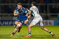 6th March 2020; AJ Bell Stadium, Salford, Lancashire, England; Premiership Rugby, Sale Sharks versus London Irish; Jean-Luc du Preez of Sale Sharks is tackled by Curtis Rona of London Irish