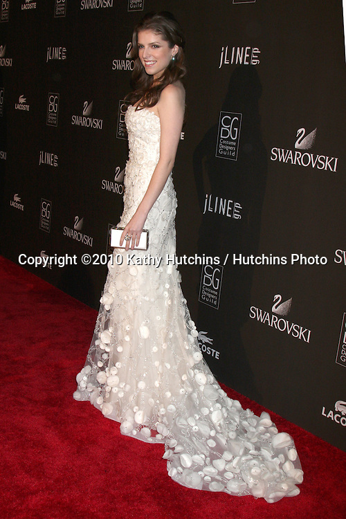Anna Kendrick.arriving at the 2010 Costume Designer's Guild Awards.Beverly Hilton Hotel.Beverly Hills, CA.February 25, 2010.©2010 Kathy Hutchins / Hutchins Photo....