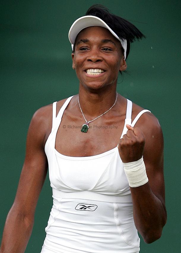 Photo: Paul Thomas..Wimbledon Championships. 02/07/2007...Venus Willimas (USA) after her win over Akiko Morigami.
