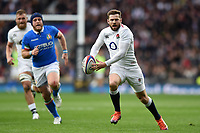 Elliot Daly of England in possession. Guinness Six Nations match between England and Italy on March 9, 2019 at Twickenham Stadium in London, England. Photo by: Patrick Khachfe / Onside Images