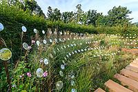 France, Chaumont-sur-Loire, Festival des Jardins 2013, thème de l'année, Jardins des Sensations, jardin La Jetée, par Gourdon et Busin (mention obligatoire du Festival)