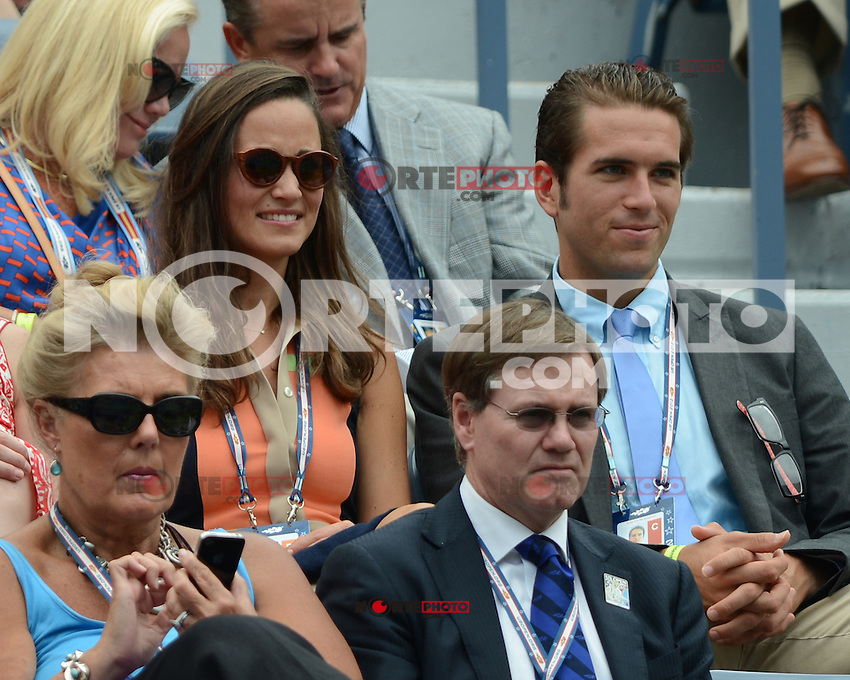 FLUSHING NY- SEPTEMBER 4: Pippa Middleton and Spencer Vegosen are sighted watching Azarenka Vs Stosur on Armstrong stadium at the USTA Billie Jean King National Tennis Center on September 4, 2012 in Flushing Queens.  Credit: mpi04/MediaPunch INc. ***NO NY NEWSPAPERS*** /NortePhoto.com<br /> <br /> **CREDITO*OBLIGATORIO** <br /> *No*Venta*A*Terceros*<br /> *No*Sale*So*third*<br /> *** No*Se*Permite*Hacer*Archivo**<br /> *No*Sale*So*third*