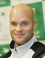 8-2-06, Netherlands, tennis, Amsterdam, Daviscup.Netherlands Russia, pressconference, Melle van Gemerden