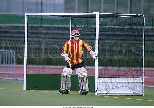 HOCKEY GOALKEEPER illustration. Photo: Action Plus...ball sports.field hockey.