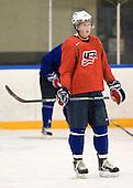 Danny Kristo (USA - 8) - Team USA practiced at the Agriplace rink on Monday, December 28, 2009, in Saskatoon, Saskatchewan, during the 2010 World Juniors tournament.
